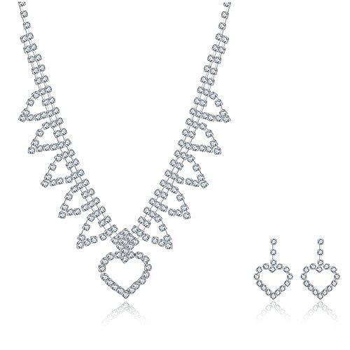 Luz Divina encanto boda novia cristal collar pendientes joyería Set