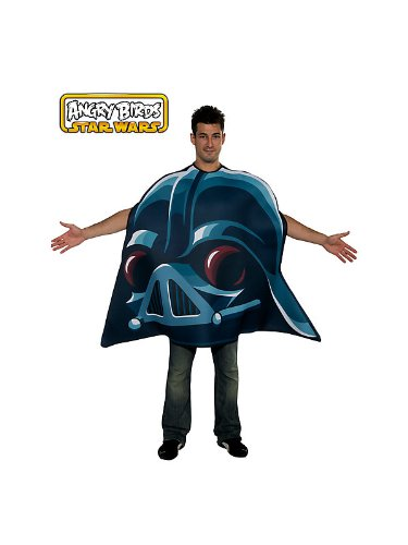 Angry Birds Star Wars Darth Vader Adult Costume, Blue, One Size -
