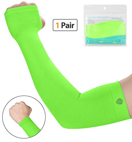 - SHINYMOD UV Protection Cooling Arm Sleeves Men Women Sunblock Cooler Protective Sports Running Golf Cycling Basketball Driving Fishing Long Arm Cover Sleeves