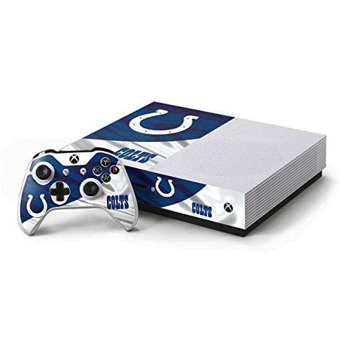 Skinit NFL Indianapolis Colts Xbox One S Console and Controller Bundle Skin - Indianapolis Colts Design - Ultra Thin, Lightweight Vinyl Decal Protection