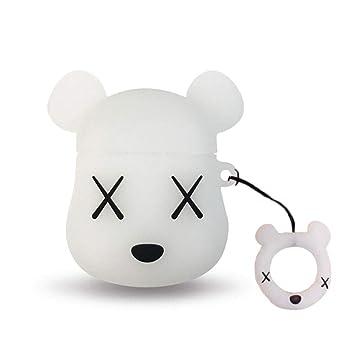 Amazon.com: AKXOMY Airpods Funda de carga, 3D Cute Silicona ...