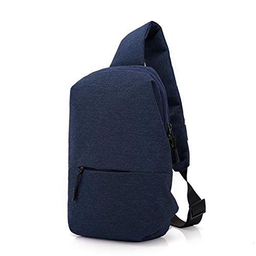 Backpack Chest Men Shoulder Water EUzeo Bag Riding Canvas Outdoor Blue Repellent Small qvd5dR