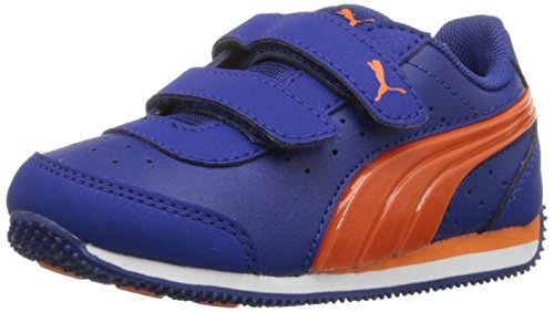 PUMA Kids Speed Light Up V Inf Sneaker (Toddler/Little Kid/Big Kid), Mazarin Blue/Vibrant, 6 M US Toddler (Light Blue Puma Sneakers compare prices)