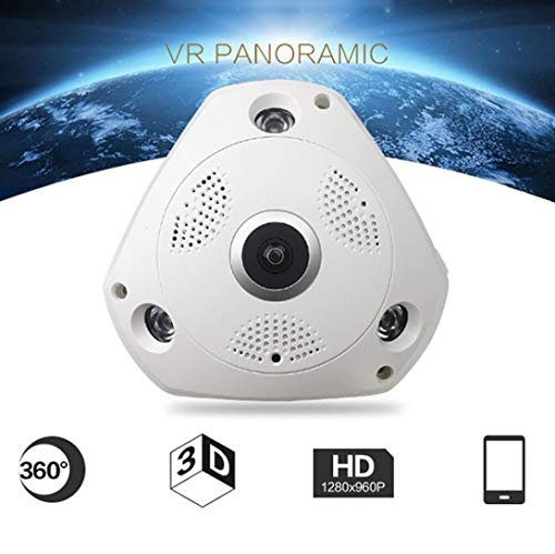 (360-degree-Panoramic-Vovomay 3MP-Wireless -Camera Audio Video- Home Security Surveillance -IP Camera)