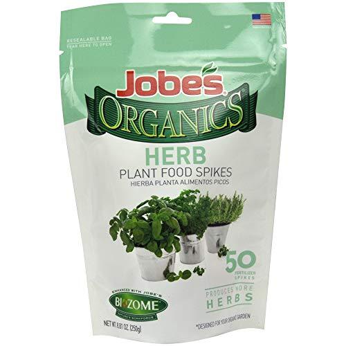 Jobes Organics Herb Fertilizer Spikes, 50 Spikes