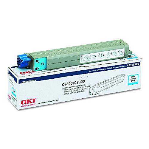 OKIDATA 42918903 Type c7 Toner Cartridge for okidata c9600, c9800, Cyan