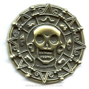 Pirates of the Caribbean Cursed Aztec Coin (Replica Pirate Coins)