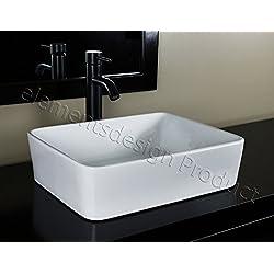 Bathroom Ceramic Porcelain Vessel Sink CV7050E3 Oil Rubbed Bronze Faucet Pop Up drain