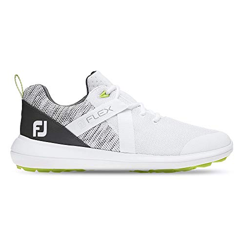FootJoy Men's Flex Golf Shoes White 9 M Grey, US