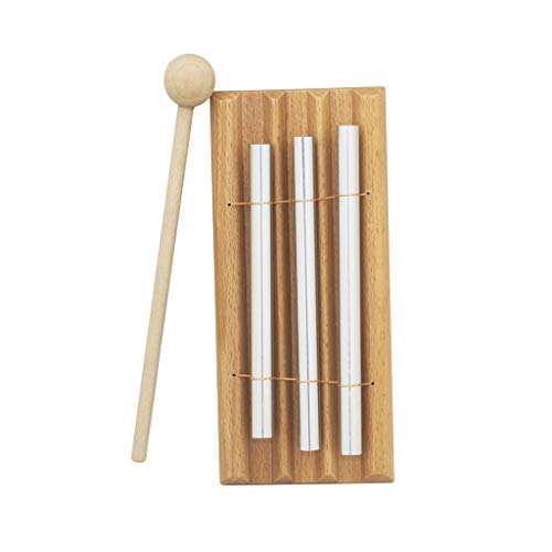Armfer Toys Kids Chimes Three Tone Tabletop Chimes Educational Musical Toy Percussion Instrument with Mallet Develop Auditory System Promote Brain Development Easy to Use for 1 Age and up Children