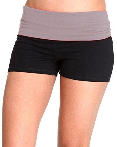 Hollywood Star Fashion - Shorts - para mujer Black/HeatherGrey