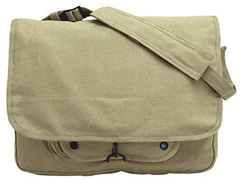 (Rothco Vintage Canvas Paratrooper Bag - Khaki)