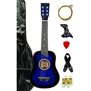 Blue Acoustic Toy Guitar For Kids With Carrying Bag And Accessories DirectlyCheapTM Translucent Medium Pic