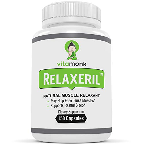 RelaxerilTM Best All-Natural Muscle Relaxer - Complete Formula for Lasting Leg Cramp, Soreness, Back Spasm, and Tension Relief - Muscle Relaxer Supplement to Ease Pain and Promote Deep Sleep