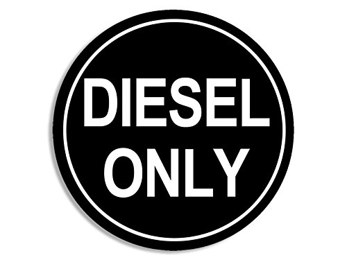 American Vinyl Round Black Diesel Only Sticker (Decal Logo go Green Gas Oil Earth)