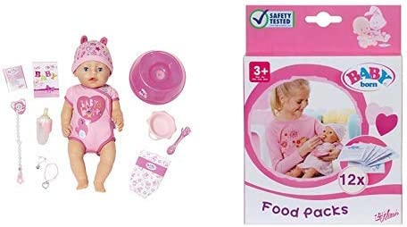 Zapf Creation 824368 Baby Born Soft Touch Girl Blue Eyes Puppe bunt /&  Creation 823828 Baby Born Puppenbekleidung
