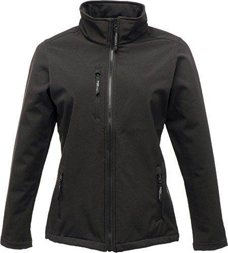 Regatta octogonal de traje de neopreno para mujer Softshell con cremallera de ropa de invierno Tejido Protector de cámara de aire para bicicletas negro