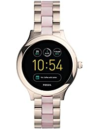 Q Women's Venture Gen 3 Pink Stainless Steel and Acetate Touchscreen Smartwatch FTW6010
