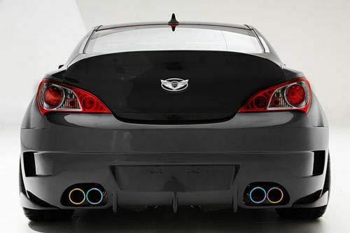 FOR Hyundai Genesis Coupe Silver Chrome WING Logo Emblem Set 7pcs