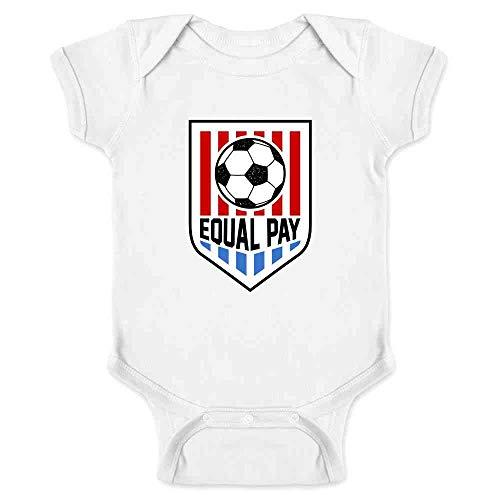 Equal Pay USA Women Soccer National Team Power White 24M Infant Bodysuit