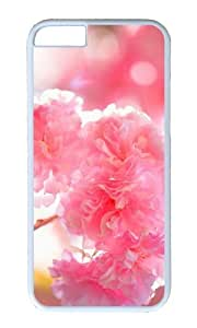 MOKSHOP Adorable double cherry blossoms Hard Case Protective Shell Cell Phone Cover For Apple Iphone 6 Plus (5.5 Inch) - PC White