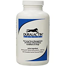 Duralactin 180 Count Chew Tablets, 1000mg, Vanilla Flavor