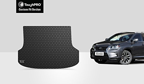 ToughPRO Cargo/Trunk Mat Compatible with Lexus RX350/RX450h - All Weather - Heavy Duty - (Made in USA) - Black Rubber - 2010, 2011, 2012, 2013, 2014, 2015