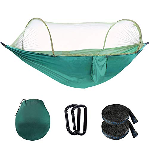 OOKU – Camping Hammock with Mosquito Net for 2 Person 440 lbs | Ultralight Travel Hammock with Bug Net, 2 Hanging Straps…