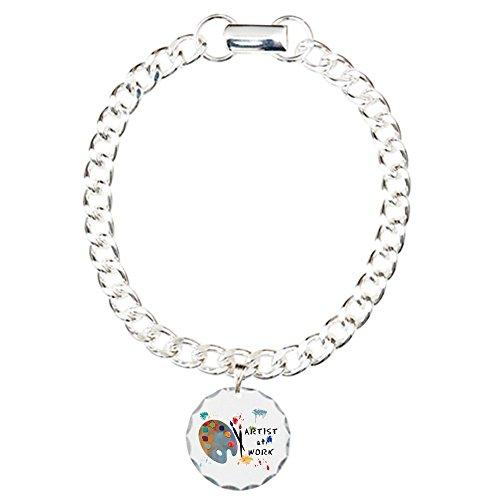 CafePress Artist Charm Bracelet Pendant