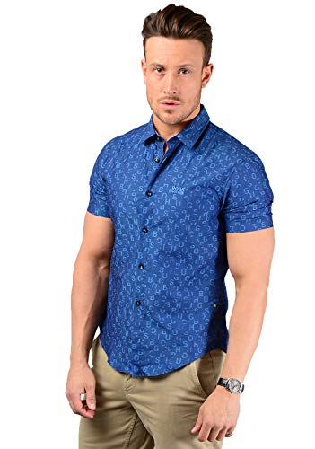 BOSS Brodi_S Short Sleeve Shirt in Blue