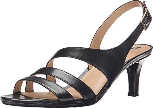 Naturalizer Women's Taimi Sandal,Black Leather,US 5 M E0497L1-001