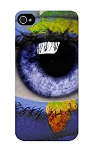 0aaab6d4143 Eyes World Blue Eyes Earth Maps Artwork Photomanipulations Flip With Fashion For HTC One M7 Case Cover As New Year's Day's Gift