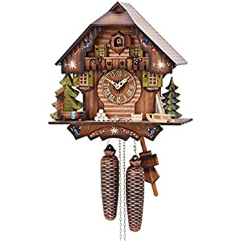 Amazoncom German Cuckoo Clock 8 day movement Chalet Style 13