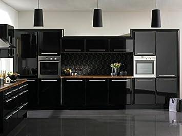 Custom Vinyl Pegatina de Vinilo para forrar Muebles de Cocina o baño (Negro, 50): Amazon.es: Hogar