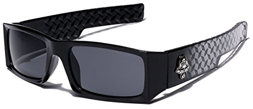 Locs Men's Original Gangsta Shades Rectangle Sunglasses with Black - Loc Glasses