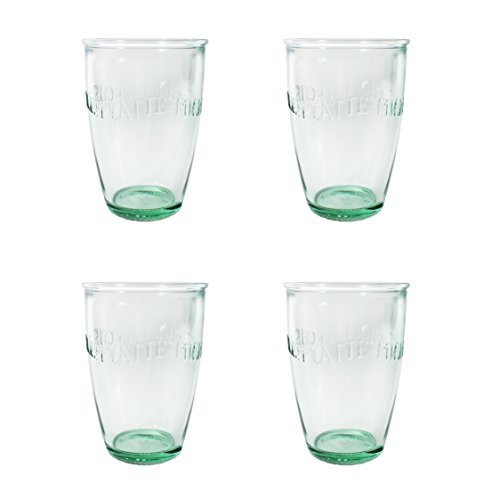 Amici Euro Milk Glass, 13 oz - Set of - Euro Glasses