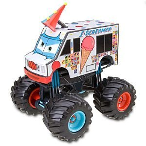 Amazon Com Disney Cars Toon I Screamer Monster Truck Toys Games