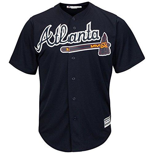 Nice Atlanta Braves Word Mark Navy Blue Toddler Cool Base Alternate Jersey free shipping