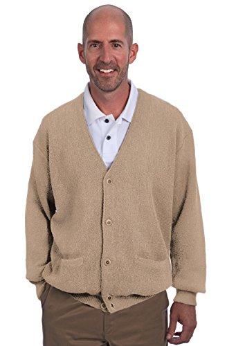 Alpaca Golf - Men's Button Down Cardigan with Pockets - 100% Alpaca Superfine (XLarge, ()