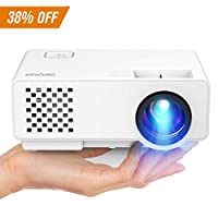 Projector, 2018 Upgraded DBPOWER Mini Video Projector, Multimedia Home Theater Video Projector Supporting 1080P, HDMI, USB, VGA, AV for Home Cinema, TVs, Laptops, Games, Smartphones
