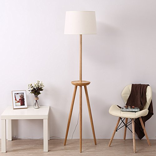 Uplight Table (Solid wood floor lamp modern minimalist living room bedroom bedside coffee table lamp Floor Uplight Lamp (Color : A, Size : 40170cm))