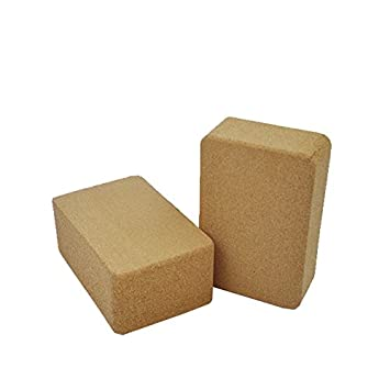 Amazon.com : QUBABOBO Set of 2 Cork Yoga Block : Sports ...