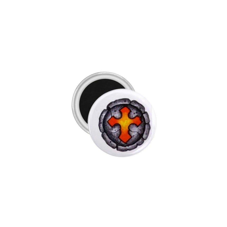 Tattoo Cross Stone Art Fridge Souvenir Magnet 2.25