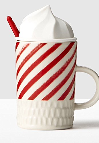 Starbucks Candy Cane Whip Top Mug with Spoon 10 oz 2016 -