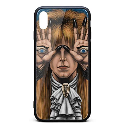 Fit Cell Case for IPhoneX Pan's-Labyrinth-Starring-David-Bowie- Tempered Glass Black Anti-Scratch TPU Rubber Bumper Shock Accessories for Mans Girls Back Cover