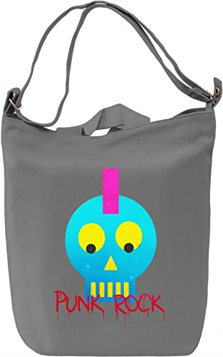 Punk Rock Head Borsa Giornaliera Canvas Canvas Day Bag| 100% Premium Cotton Canvas| DTG Printing|