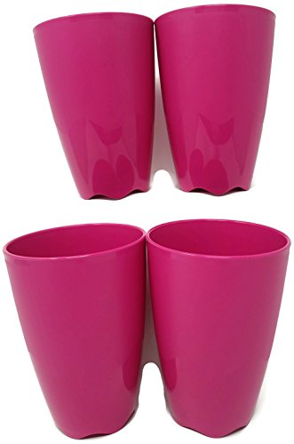 Tupperware Open House Floresta Tumblers Set of 4 Pink 18 oz