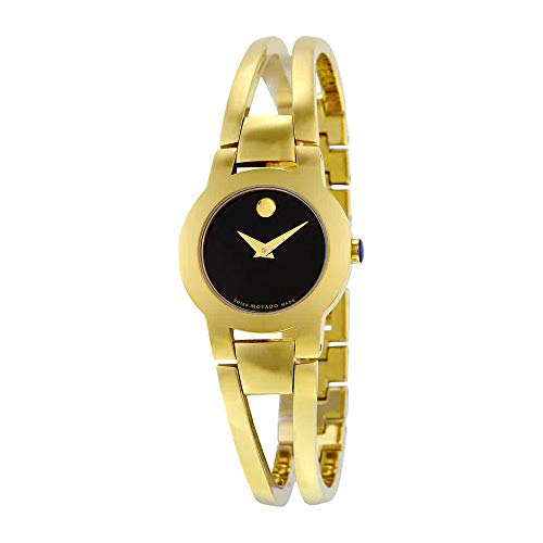 - Movado Women's Swiss Quartz Gold-Plated Casual Watch (Model: 0606946)