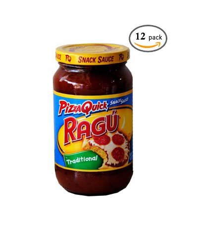 Unilever Bestfoods Ragu Traditional Pizza Quick Snack Sauce, 14 Ounce -- 12 per case.