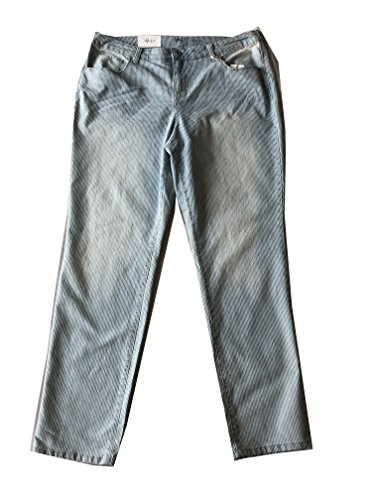 Style & Co. Womens Plus Striped Mid-Rise Slim Jeans Blue 16W by Style & Co.
